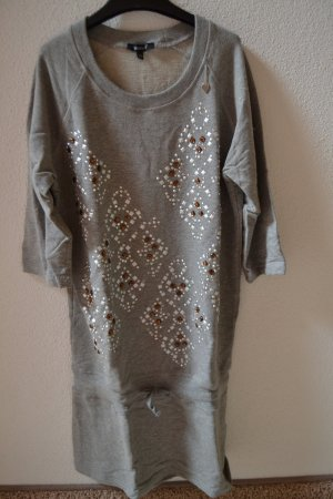 Denny Rose Sweat Dress silver-colored
