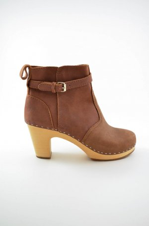 Swedish hasbeens Booties light brown-oatmeal leather