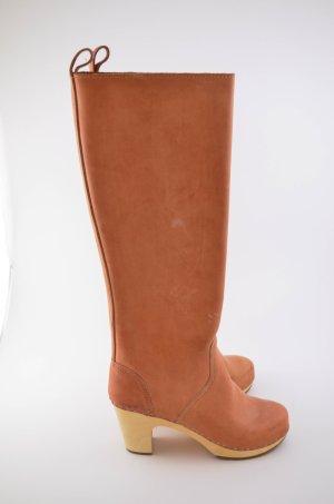 SWEDISH HASBEENS Damen Stiefel Knee High col.Natur Leder Beige Braun Gr.39 Neu!