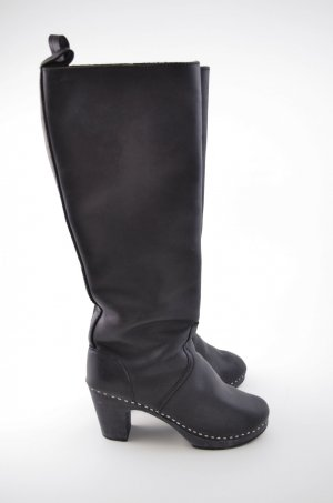 Swedish hasbeens Platform Boots black leather