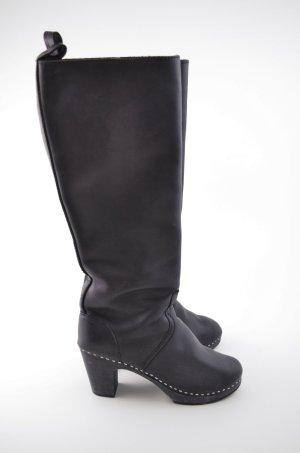 SWEDISH HASBEENS Damen Stiefel Knie High col.Black Black Schwarz Gr.39 Neu!