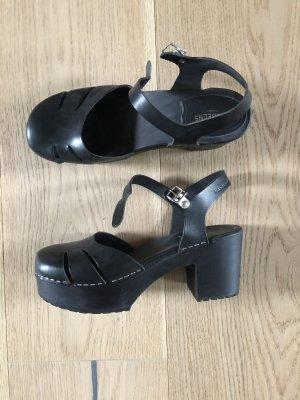 Swedish hasbeens Sandales à talons hauts et plateforme noir