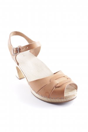 Swedish hasbeens Platform High-Heeled Sandal light brown casual look