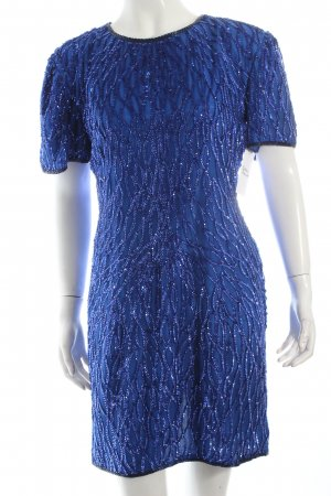 Sweelo Pailettenkleid blau-dunkelblau Party-Look