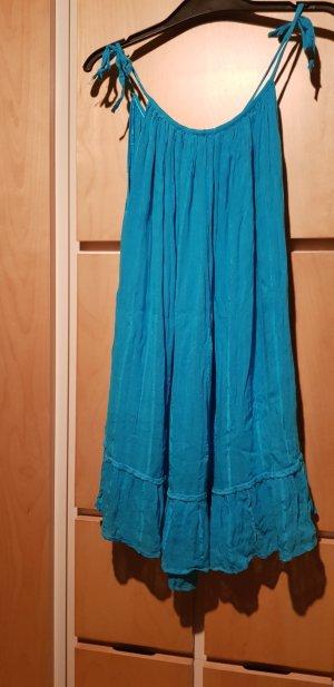 Vestido playero azul aciano