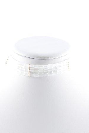Sweet Deluxe Perlenkette weiß-goldfarben Elegant