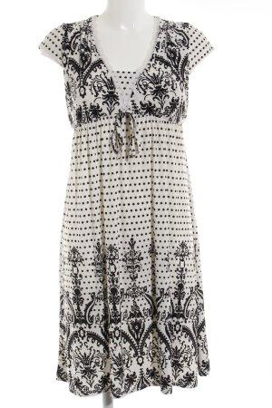 Sweet Miss A-Linien Kleid weiß-schwarz abstraktes Muster Antik-Look