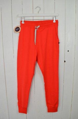 SWEET PANTS Damen Jogginghose Terry Loose Fluro Red Rot Baumwollgemisch Gr.S Neu