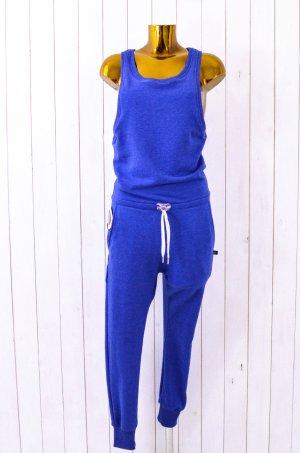 SWEET PANTS Damen Jumpsuit Overall Mod. JUMP LOUNGE Jersey Sweaty Blau Bleu XS