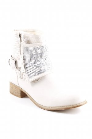 Sweet Shoes Halbstiefel creme Country-Look