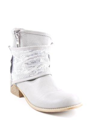 Sweet Shoes Halbstiefel grau Glitzer-Optik