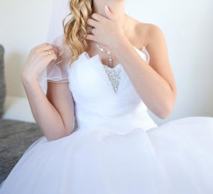 Sweetheart 6000 Brautkleid Princess weiß | trägerlos | Tüll