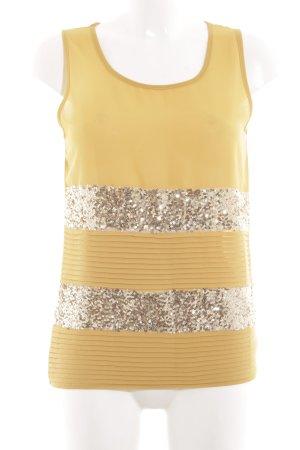 Sweewe ärmellose Bluse blassgelb-goldfarben Casual-Look