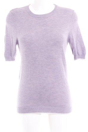Sweewe Jersey de manga corta púrpura-blanco puro Patrón de tejido look casual