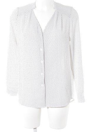 Sweewe Langarm-Bluse weiß-schwarz Punktemuster Elegant