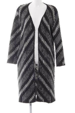 Sweewe Strickjacke schwarz-weiß abstraktes Muster Casual-Look