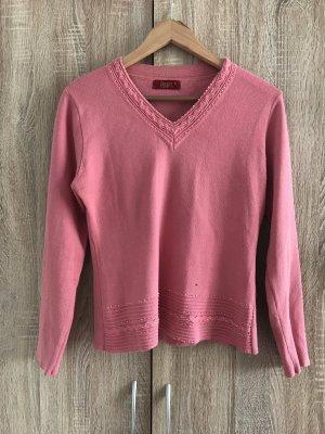 Sweatshirt rouge framboise-rose