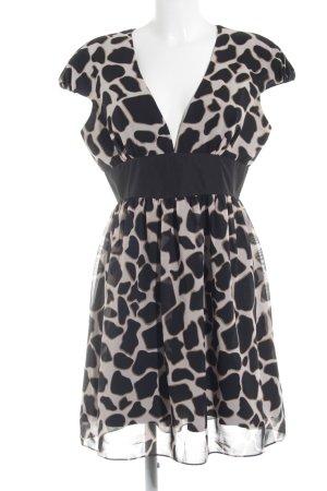 Swing A-Linien Kleid Animalmuster Elegant