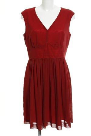 Swing A-Linien Kleid dunkelrot Elegant