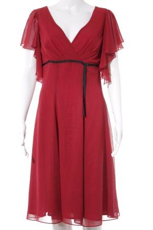 Swing A-Linien Kleid dunkelrot-schwarz Elegant