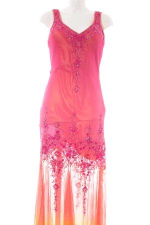 Swing Abendkleid pink-hellorange Farbverlauf extravaganter Stil