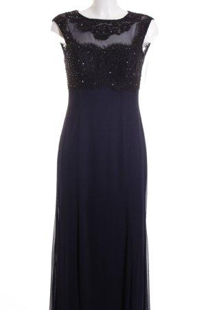 Swing Abendkleid dunkelblau-schwarz Glitzer-Optik