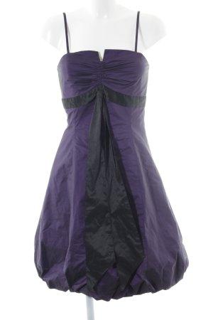Swing Abendkleid lila-schwarz Elegant