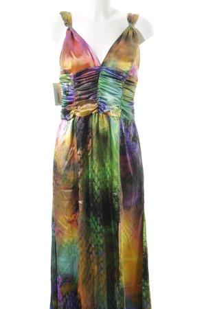 Swing Abendkleid Regenbogenmuster extravaganter Stil