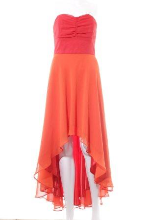 Swing Abendkleid rot-orange Colourblocking Party-Look