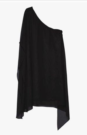 Swing Abendkleid schwarz One-Shoulder