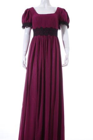 Swing Abendkleid violett-schwarz Elegant