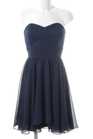 Swing Abito da ballo blu motivo floreale stile romantico