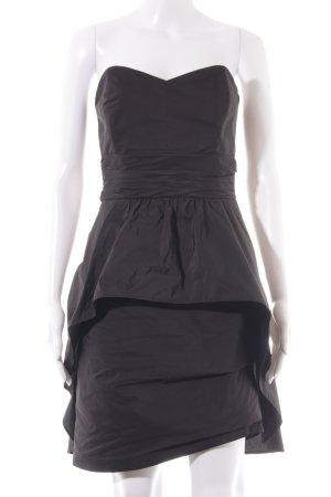 Swing Vestido bandeau negro elegante