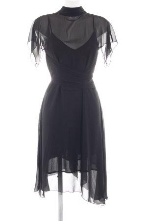 Swing Blusenkleid schwarz Transparenz-Optik