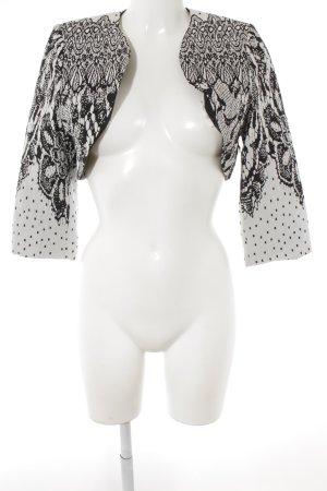 Swing Bolero schwarz-weiß florales Muster Casual-Look