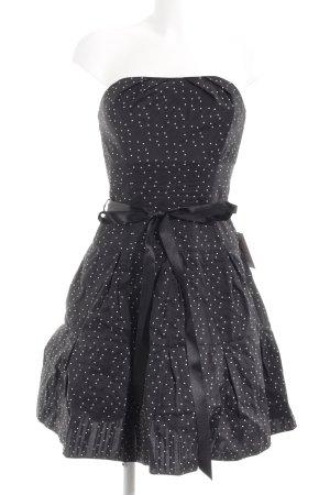 Swing Bustierkleid schwarz-weiß Punktemuster 20ies-Stil