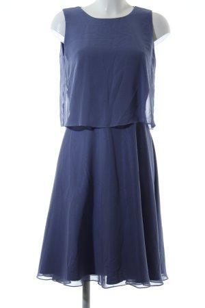 Swing Chiffonkleid blau Elegant