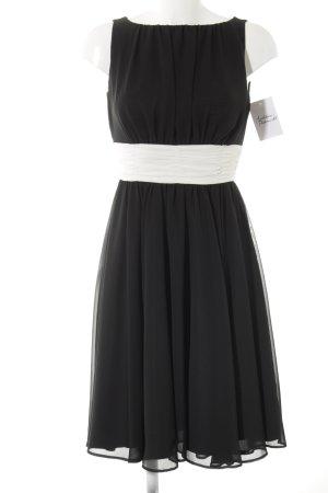 Swing Chiffonkleid schwarz-weiß Elegant