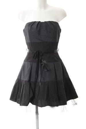 Swing Corsagenkleid schwarz Punktemuster Schleifen-Detail