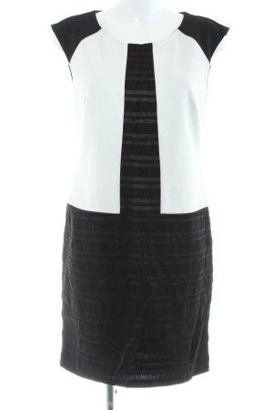 Swing Etuikleid schwarz-weiß Streifenmuster Business-Look