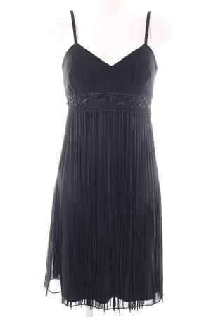 Swing Robe à franges noir élégant