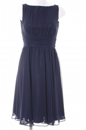 Swing Hooded Dress dark blue elegant