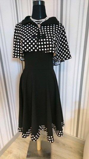 Petticoat Dress black-white mixture fibre
