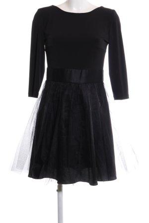 Swing Langarmkleid schwarz Elegant