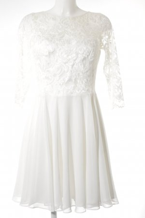 Swing Langarmkleid weiß Elegant