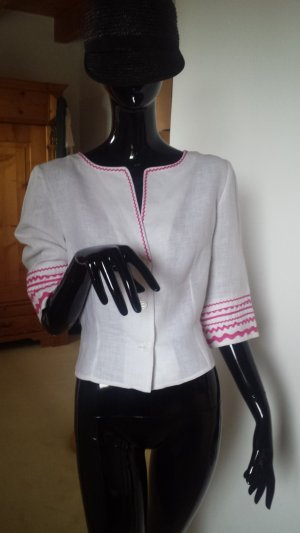 Swing Blouse en lin blanc-rose