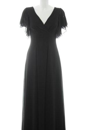 Swing Maxikleid schwarz Elegant