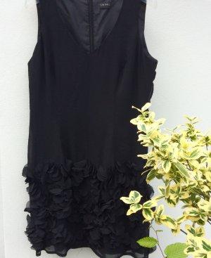 Swing Minikleid schwarz florales Muster Party-Look