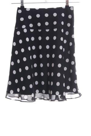 Swing Minirock schwarz-weiß Punktemuster Casual-Look