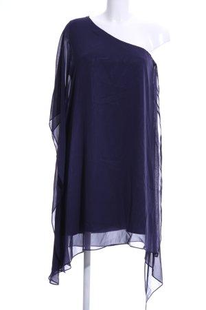 Swing One-Shoulder-Kleid blau Casual-Look